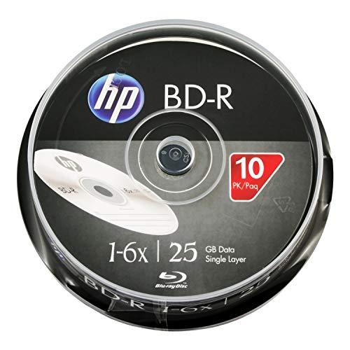 HP BD-R 1-6X Logo Top 25GB 10pk Cake Box