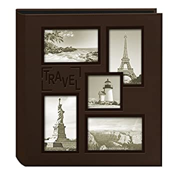 Pioneer Photo Albums Collage Frame Embossed Travel Photo Album Brown