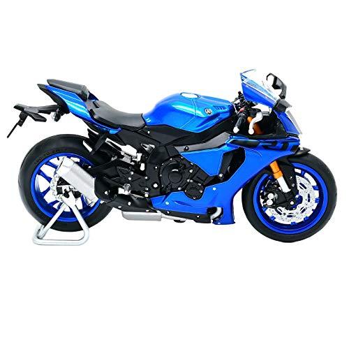 Hellery 1/18 Motocicleta Modelo de Bicicleta Yamaha R1 Diecast Juguete de Regalo con Caja de Presentación