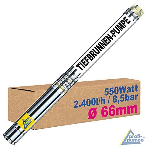 AMUR TIEFBRUNNENPUMPE BRUNNENPUMPE TAUCHPUMPE 2,5 Zoll - Brunnen-Star-550 Watt - Die SCHLANKE TAUCH-Druck-PUMPE mit hoher Leistung! (550 Watt)