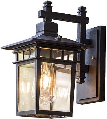 Lámpara de pared para exterior Lámpara de pared retro LED Lámpara impermeable para el jardín Lámpara a prueba de herrumbre Lámpara de diámetro de lámpara decorativa 38 CM luz cálida: Amazon.es: Iluminación