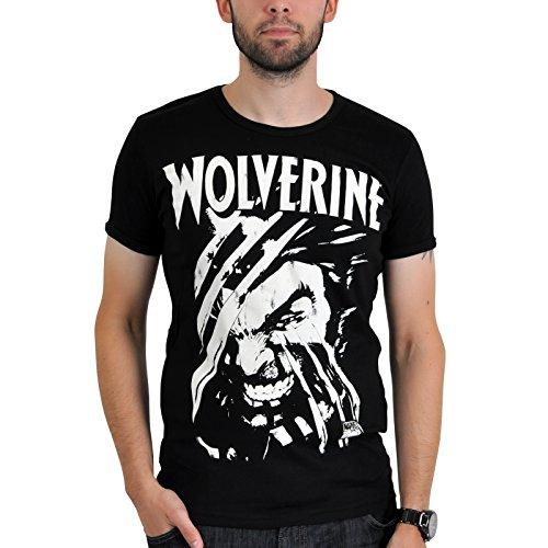 LOGOSHIRT X-Men Comic Herren T-Shirt WOLVERINE Schwarz Gr. S