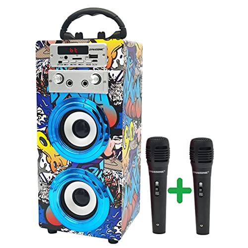DYNASONIC (3º Generazione Modello 2021 Karaoke con Microfono, Regali per Ragazzi e Bambini e Ragazza, Giocattoli Bambino Bambina Modello 025-16