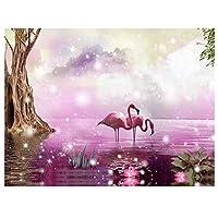 動物フラミンゴダイヤモンド絵画デジタルDiyビーズクロスステッチモザイク画像刺繍40x30cm