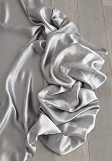 Tessuto al metro in raso elegante color argento (Satineè col. 30)