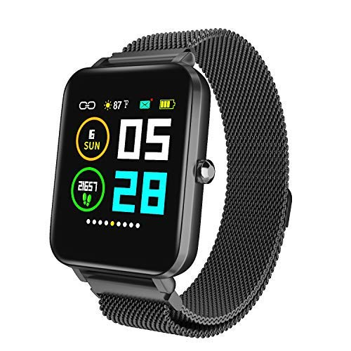 Zagzog Smart Watch for Android and iOS, All-Day Activity Tracking IP68 Waterproof Fitness Tracker Heart Rate Monitor Smartwatch for Women Men