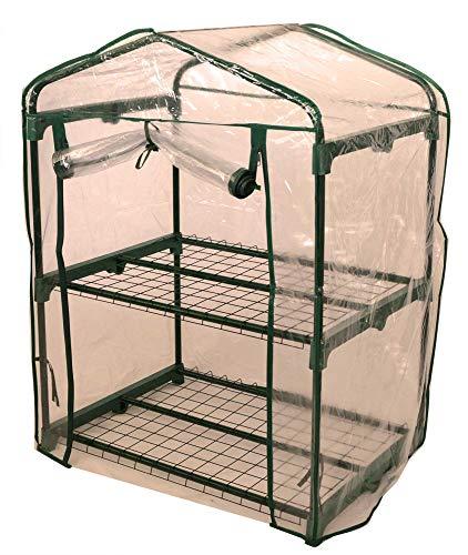 Gartenpirat Folien-Gewächshaus 69x49x93 cm Mini-Treibhaus Frühbeet für Balkon