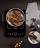 ChangBERT 1800W Induction Cooktop Portable Sensor Touch Electric Rapid Heating Single Stove Countertop Induction Cooker, Commercial Burner, Black