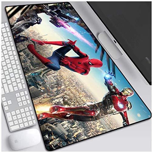 Spiderman Gaming Mouse Pad Marvel Superhero surdimensionné clavier étendu tapis de souris non-Slip Jeu Tapis de PC de bureau Home Office table Tapis de souris ( Color : K , Size : 900*400*3mm )