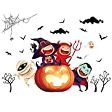 chenqiu Wall Sticker Halloween Background Window Home Decoration Decal Decor Non-Toxic, Environmental Protection, Waterproof,Multicolor
