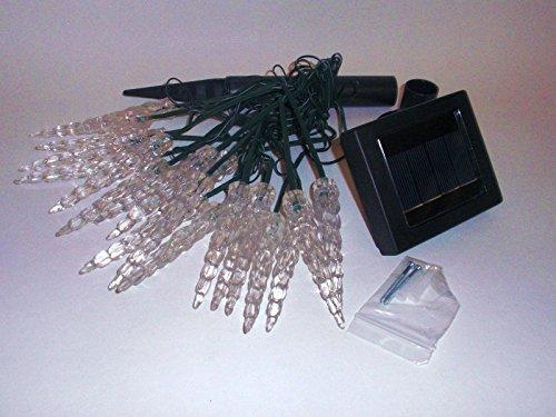 Heitronic Solar-Lichterkette Eiszapfen, warmweiß 39276