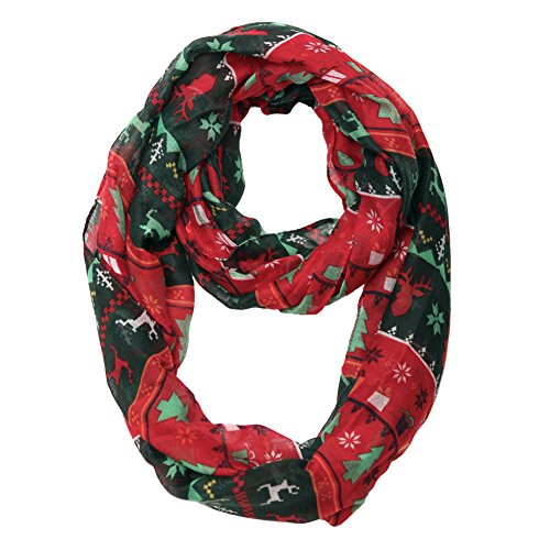 MissShorthair Christmas Infinity Scarf Lightweight Loop Idea (Christmas tree)