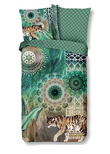 Traumschloss Sargis Feinbiber Bettwäsche Garnitur aus Baumwolle, Größe:135x200 / 80x80