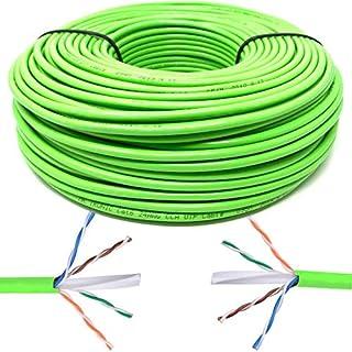 Mr. Tronic 100m Cable de Instalación Red Ethernet Bobina   CAT6, AWG24, CCA, UTP (100 Metros, Verde)
