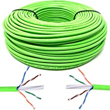 Mr. Tronic 100m Cable de Instalación Red Ethernet Bobina | CAT6, AWG24, CCA, UTP (100 Metros, Verde)