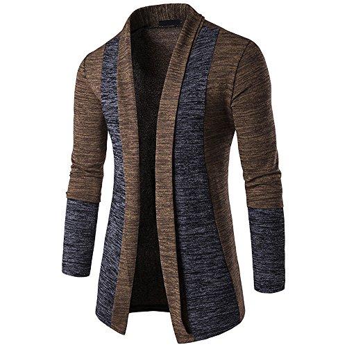 serliy😛Herren Herbst Winter Pullover Strickjacke Knit Strickmantel Jacke Sweatshirt Open Jacke Lang Cardigan Knit Mantel