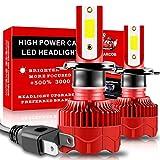 Teguangmei H7 Lampadine per Fari a LED Canbus Senza Errori 25W 5000LM Chip COB Super Luminosi 6000K Kit di Conversione Bianco Fari Anabbaglianti LED per Auto Lampadine Fendinebbia 12V,2 pezzi