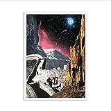 Póster Surrealismo Vintage Sky Art Posters E Impresiones Lienzo Retro Sci Fi Art Picture Dormitorio Decoración para El Hogar 50 * 70Cm Sin Marco