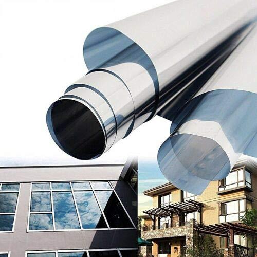 LEON-FOLIEN Sonnenschutzfolie 150x30 cm 45% Lichtdurchlässigkeit - Fensterfolie UV Schutz Sichtschutzfolie SonnenschutzFenster Spiegelfolie Wärmeisolierung Sichtschutz Selbstklebend
