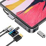 Baseus USB Cハブ iPad Pro用 6イン1 Type Cアダプタードングル iPad Pro 2020/2019、MacBook Pro 2020/2019/2018などに対応 グレー CAHUB-WJ0G-GMWHYOR