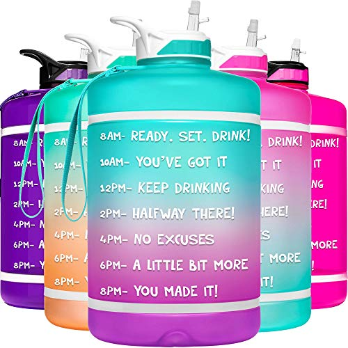 HydroMATE 1 Gallon Motivational Water Bottle with Time Marker