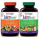 Natrol JuiceFestiv Daily Fruit & Veggie Capsules with Probiotics and Digestive Enzymes 240 Count