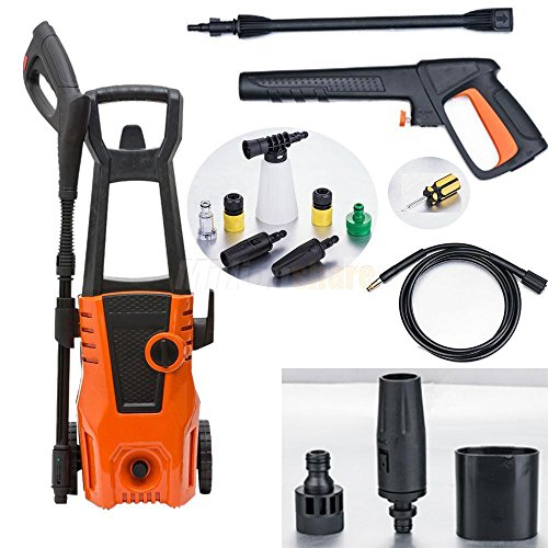 Best Deals! Pongwitshop High Power Electric Pressure Washer Hose Nozzle Cleaner Portable 105bar 1500...