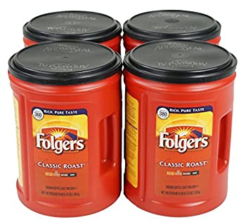 Folgers Medium Roast Coffee Classic 3 Pound  Pack of 4  48 Ounce