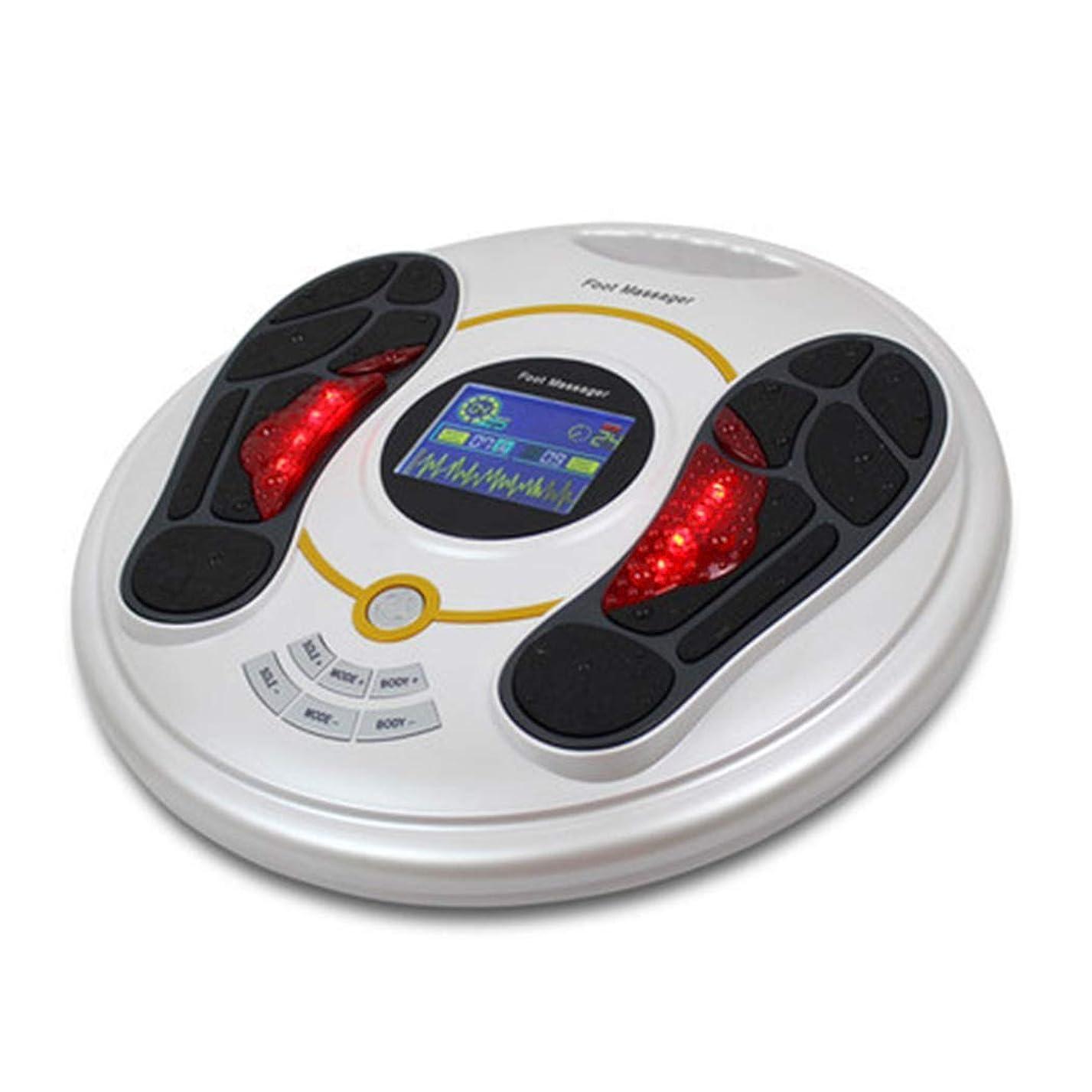 交流する符号起こる血液循環を促進リモートコントロールフットマッサージャー指圧マシン電動足マッサージャースパ、熱、ディープニーディング機能ホームオフィスでの使用のための足のストレス緩和インテリジェント、ホワイト