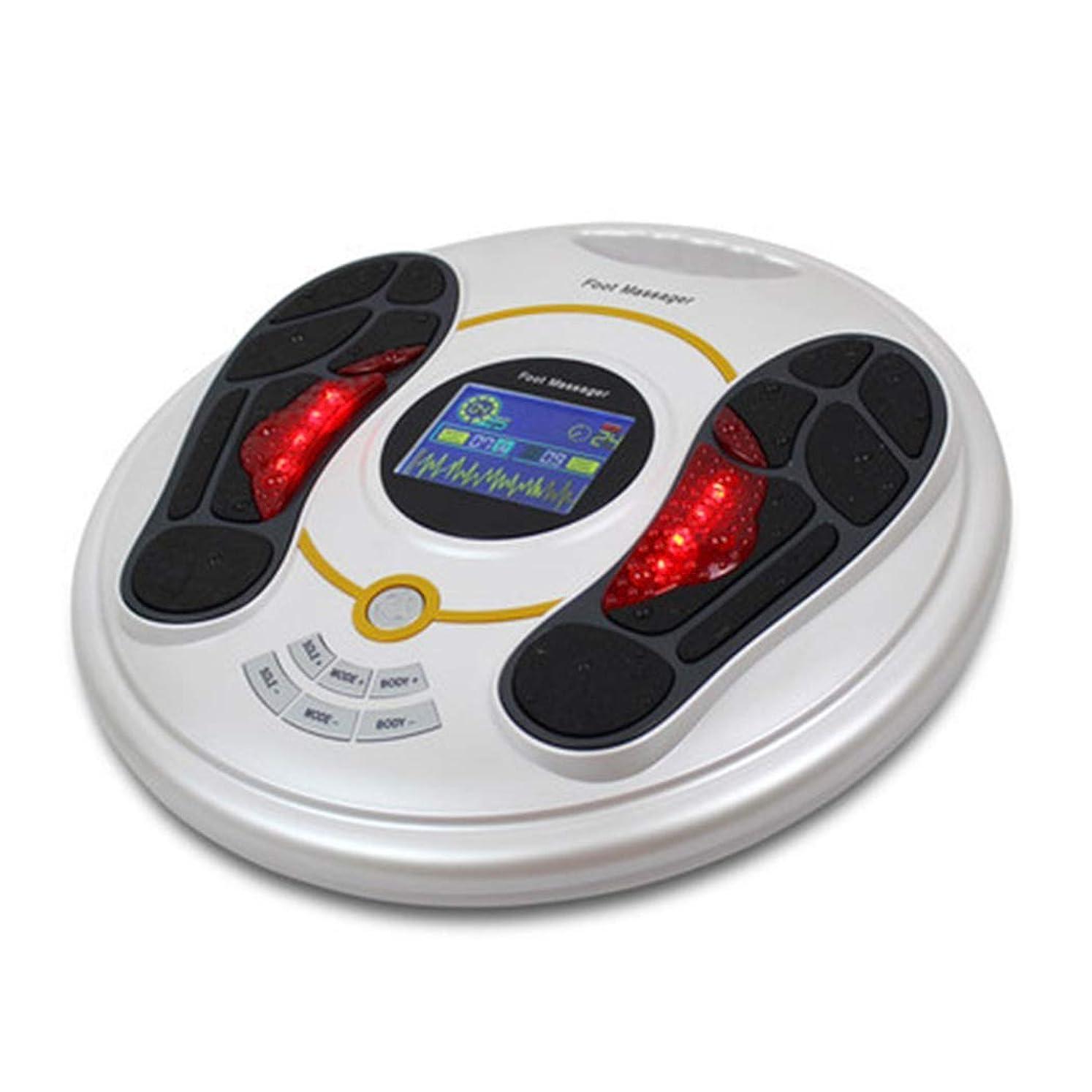 防水着陸ストレスの多い血液循環を促進リモートコントロールフットマッサージャー指圧マシン電動足マッサージャースパ、熱、ディープニーディング機能ホームオフィスでの使用のための足のストレス緩和インテリジェント、ホワイト