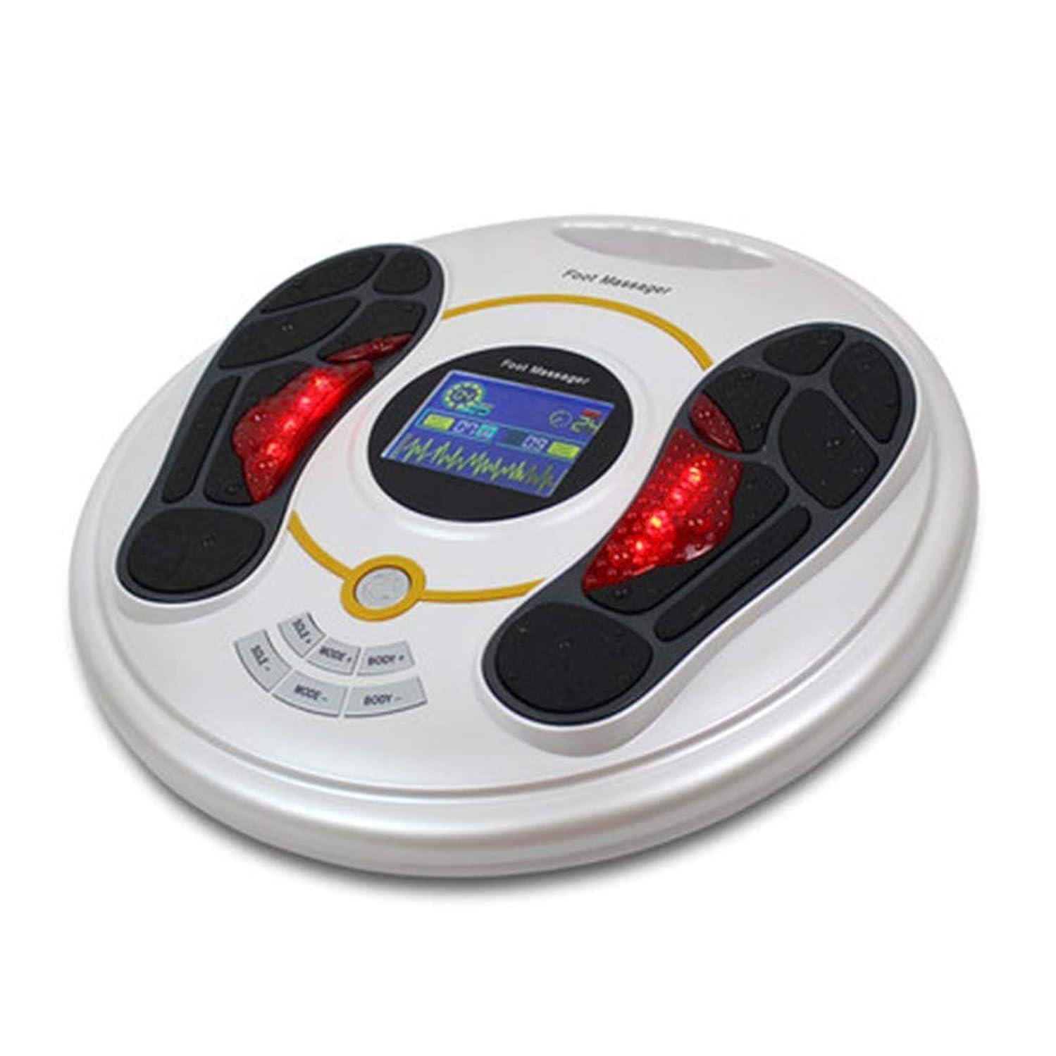 強制的苦しむラッドヤードキップリング血液循環を促進リモートコントロールフットマッサージャー指圧マシン電動足マッサージャースパ、熱、ディープニーディング機能ホームオフィスでの使用のための足のストレス緩和インテリジェント、ホワイト