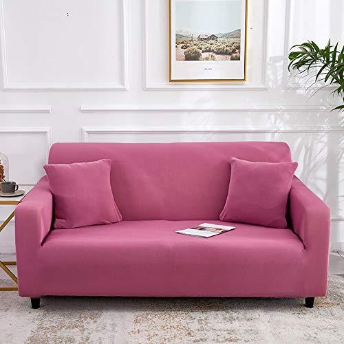 ASCV Funda de sofá elástica Gris sólida Funda de sofá con Todo Incluido Funda de sofá para Sala de Estar Funda de sofá A9 4 plazas