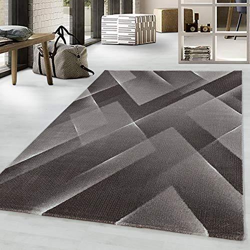 Costa Trend - Tappeto con motivo geometrico, 120 x 170 cm, colore: Beige