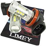 LIMEY LED フォグ ランプ H8 H11 H16 兼用 ホワイト 6000K CREE製LED 3535SMD DC12V 24V車対応 2個入り 保証書付