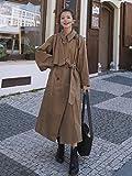 Wuyuana Coat - Cortavientos para mujer, estilo casual, suelto, de longitud media, mullido, abrigos para mujer (color: A, tamaño: XL)