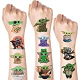 Yoda Baby Temporary Tattoos Sets 12 Sheets Yoda Fake Tattoos Stickers for Kids Party Supplies Star War Theme Birthday Decorations Baby Shower Favors