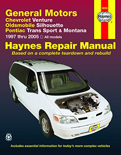 Chevrolet Venture, Oldsmobile Silhouette, Pontiac Trans Sport & Montana (97-05) Haynes Repair Manual