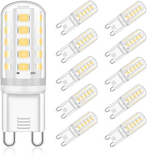 G9 LED Lampen Neutralweiß 5W, Ersatz 28W 33W 40W Halogenlampen 420LM, 4000K G9 LED Leuchtmittel Birnen, Kein Flackern, Nicht Dimmbar, RA83, AC 220-240V 10er PackEco.Luma