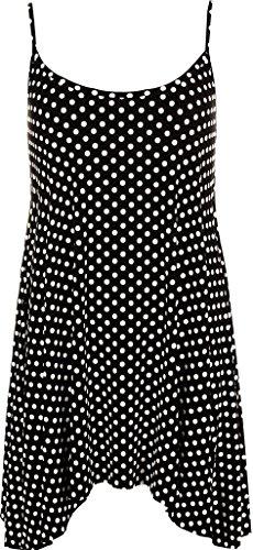 Islander Fashions Women's Plus Size Bedrukte Strappy Cami Swing zomerjurk (Maat UK van 12 tot 30)