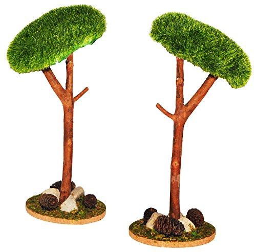 Unbekannt Baum Pinie Steinkiefer - Miniatur 20 cm - Maßstab 1:12 - für Puppenstube / Puppenhaus u. Eisenbahn Platte - Garten Bäume / Bäume - Pinienbaum Pinien - Kiefern..