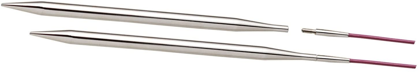 128mm x 10mm KnitPro Nova Metal Interchangeable Needle Tips