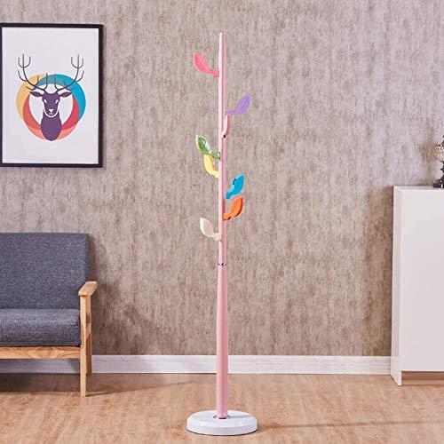 Perchero de Metal de pie Independiente para niños, 9 Ganchos Perchero Multifuncional con diseño de árbol Inspirado en un árbol Entrada para el Dormitorio Infantil, Rosa 170cm (66.9in)