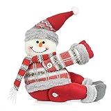 heekpek Hebilla Cortina de Navidad La Ventana de La Navidad Cortina Hebilla Decorativa Muñeca de Dibujos Animados 3D Papá Noel Muñeco de Nieve Elk Hebillas Cortinas
