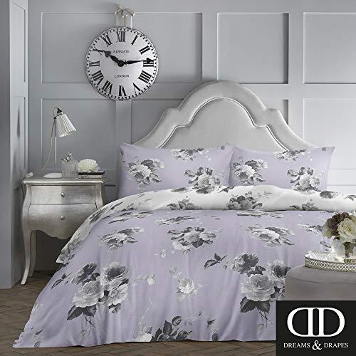 Dreams & Drapes Charlotte-pflegeleichtes Bettwäsche-Set für Einzelbett, fliederfarben