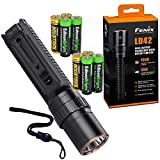 Fenix LD42 AA Battery Powered 1000 Lumen Rotary Controller LED Flashlight w/Four X EdisonBright AA Batteries Bundle
