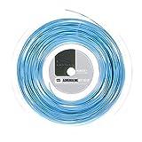Luxilon Adrenaline 125 Cordaje de tenis, rollo 200 m, unisex, azul, 1.25 mm