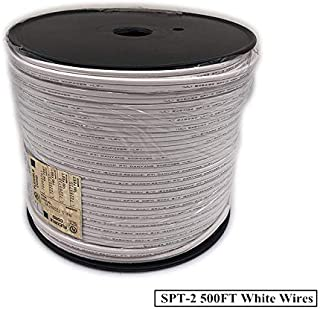 Asparkle UL listed 500ft White Zip Cord,18 Gauge /2 SPT-2 Extension Elctrical Wire (spt2-500ft, White)