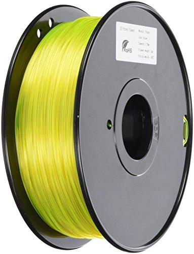 3D Prima TW-PET175YE PETG Filament, 1.75 mm, 1 kg Spool, Yellow