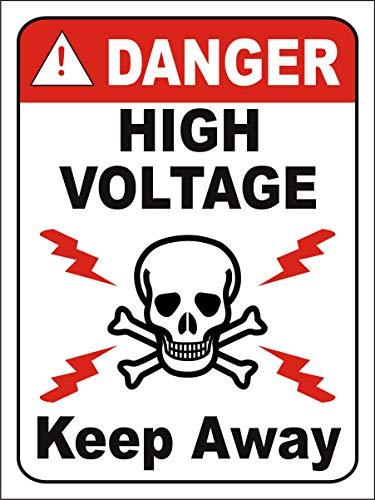eSplanade Danger High Voltage calcomanía – fácil de montar, resistente a la intemperie, tinta de larga duración (tamaño 30,5 x 22,8 cm)