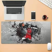 NBAマウスパッド特大バスケットボール戦士レイカーズカレー神戸ジョーダンアーヴィングジェームスデュラントテーブルマットキーボードマット滑り止めマットeスポーツ防水ラバーベース-NBA-73  800x300mm